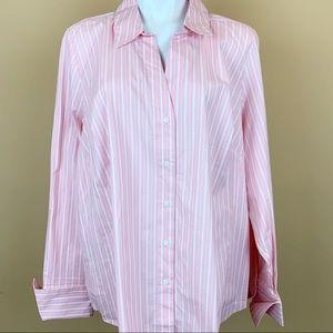 Lane Bryant striped button down shirt